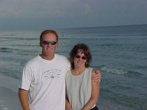 john and marge at beach